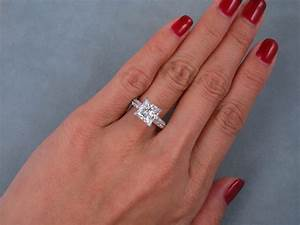 284 ctw princess cut diamond engagement ring h vs2 With can i get my wedding ring made bigger