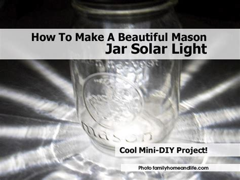 how to make a beautiful jar solar light