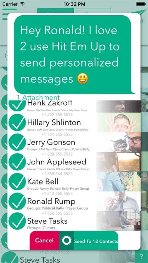 Download mass text message basic and enjoy it on your iphone, ipad, and ipod touch. Hit Em Up App how to send a mass text on iphone without it ...