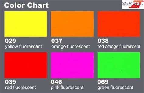 fluorescent l color chart oracal 6510 fluorescent cast signground