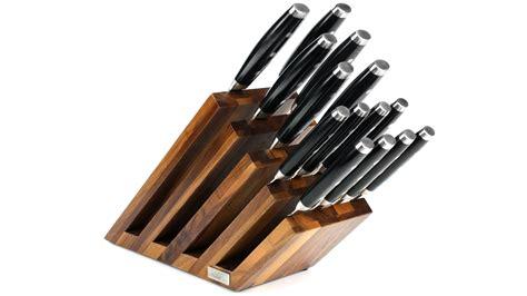 artelegno venezia  tier magnetic walnut knife block cutlery
