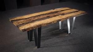 Table Resine Bois : chimenti mesa con tablero de madera y resina ~ Teatrodelosmanantiales.com Idées de Décoration