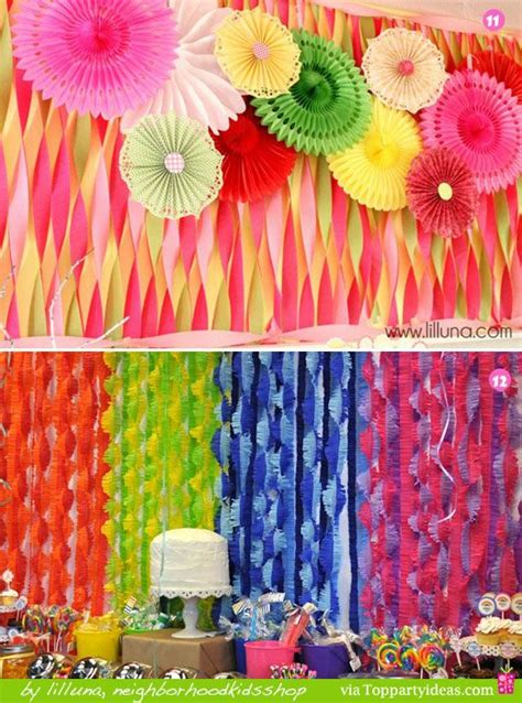 Ideas With Streamers by Paper Streamer Decorations 11 And 12 Colorful Twisted