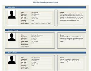 best photos of personal employee profile form template With html templates for personal profile