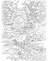 Coloring Mill Pages Dover Publications Scenes Adult Adults Watermill Sheets Country Colouring Welcome Printable Spring Template Books Doverpublications Scene Landscape sketch template