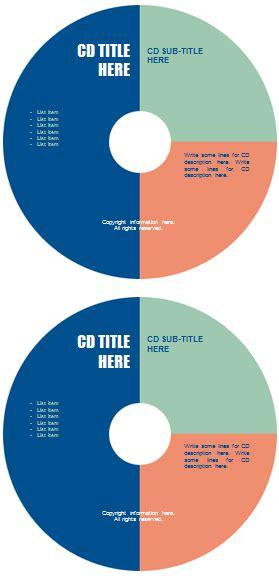 dvd label template templates  microsoft word