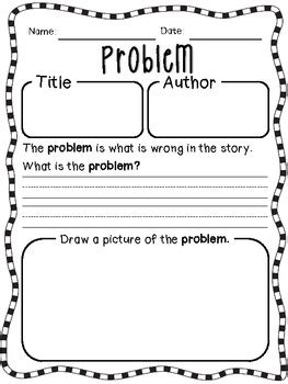 story elements worksheets for reinforcement by organized