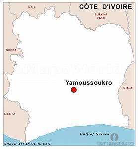 Ivory Coast Capital Map | Capital Map of Ivory Coast