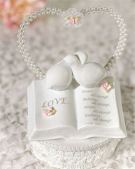 love verse bible  doves  flower accents wedding