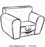 Cartoon Chair Couch Clipart Coloring Sofa Character Drawing Pages Vector Outlined Cory Thoman Clipartpanda Getdrawings Notes sketch template
