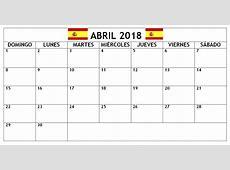 April 2018 Calendars In Spanish Language CalendarBuzz