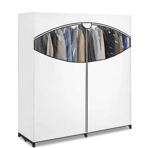 temporary clothes storage solutions whitmor extra wide portable clothes storage closet wardrobe white 27 54 reg 53 18