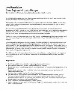 Regional Sales Manager Job Description 10 Sales Engineer Job Description Templates Pdf Doc