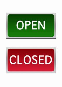 For sale sign template free clipart best for Open closed sign template