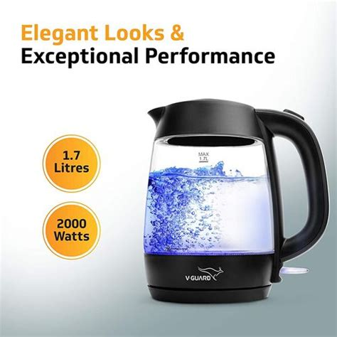 kettle glass liter rupees guard electric under 2000w multipurpose