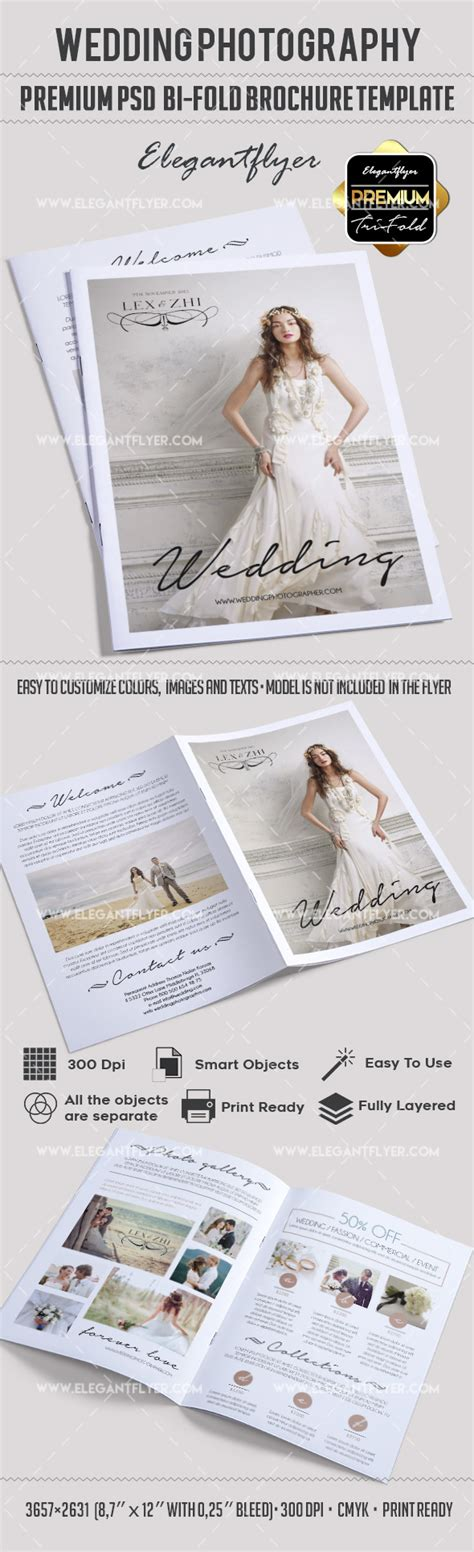 Wedding Free Tri Fold Psd Brochure Template By Wedding Photography Bi Fold Psd Brochure By Elegantflyer
