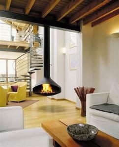 Poele A Bois Design Suspendu : cheminee suspendue bois ~ Dailycaller-alerts.com Idées de Décoration