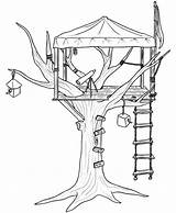 Coloring Tree Pages Treehouse Colouring Houses Printable Drawing Sheets Getcolorings Getcoloringpages Bestcoloringpagesforkids sketch template