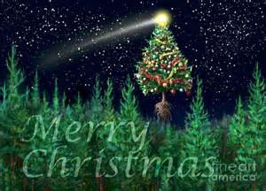 the egregious merry christmas tree landscape digital art by russell kightley