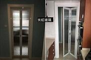 化妝室門廁所門摺疊門鋁合金衛浴門拉門廚房北歐風吊輪門隱形門
