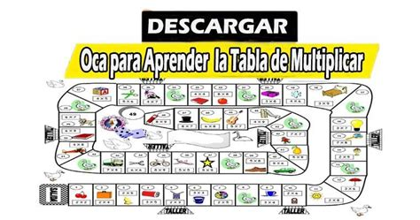 El ganador será el primer jugador que alcance la última casilla. JUEGO DE LA OCA PARA APRENDER LA TABLA DE MULTIPLICAR | Tablas de multiplicar, Aprender las ...