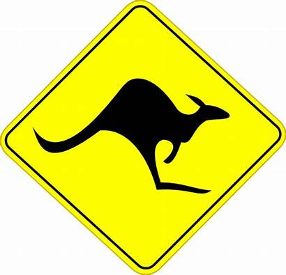 Sign Kangaroo Road Clip Clipart Clker