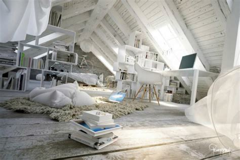 Awesome Attic Loft Bedroom by Awesome Atmospheric White Attic Loft Decoholic
