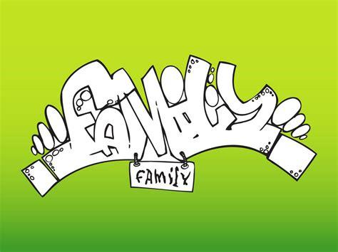 Grafiti Family : Family Graffiti Vector Art & Graphics