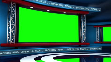 Tv Green Screen Template White by Tv Studio Background Stock Footage Video Shutterstock
