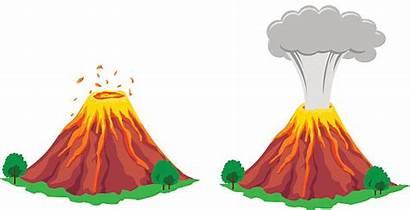 Volcano Eruption Clipart Clip Vulkan Vector Erupting