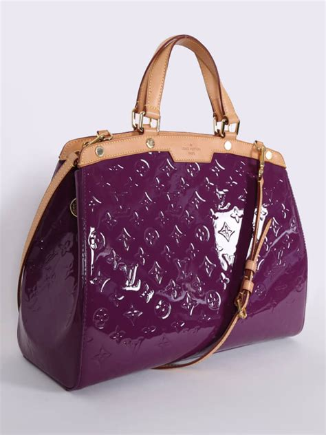 louis vuitton brea gm monogram vernis leather amethyst