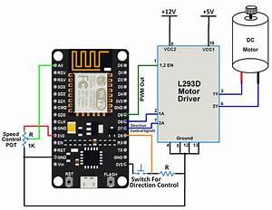 Dc Motor Interfacing With Nodemcu