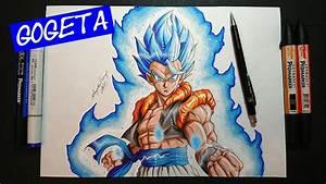 Drawing GOGETA | 'BEYOND SUPER SAIYAN BLUE' | Dragonball ...