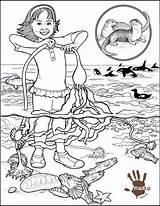 Pollution Kelp Coloringhome Kerra sketch template