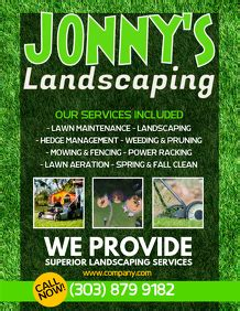 customize  lawn service templates postermywall