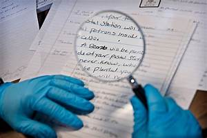 Forensics behind the badge for Questioned documents examiner