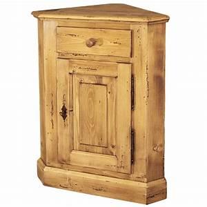 Meuble Angle Bois : petit meuble d 39 angle meuble d 39 appoint collection elodie ~ Edinachiropracticcenter.com Idées de Décoration