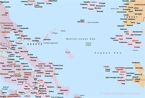 Map of Sporades Greece