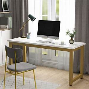 Tribesigns, Computer, Desk, 63, Inch, Large, Office, Desk, Study, Writing, Table, For, Home, Office, Easy