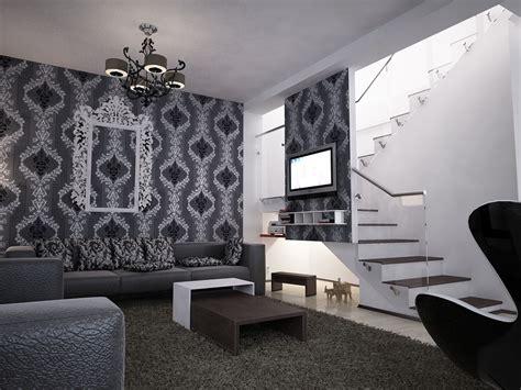 Schwarz Weißes Wohnzimmer by Bilder 3d Interieur Wohnzimmer Schwarz Wei 223 Valea