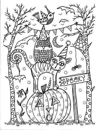 Halloween Pages Coloring Instant