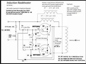 1000 Watt 12 To 48 Volt Zvs Induction Heater