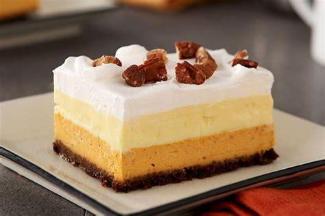 pumpkin dessert layered pumpkin dessert bars kraft recipes