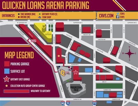 quicken loans arena parking guide maps rates tips spg