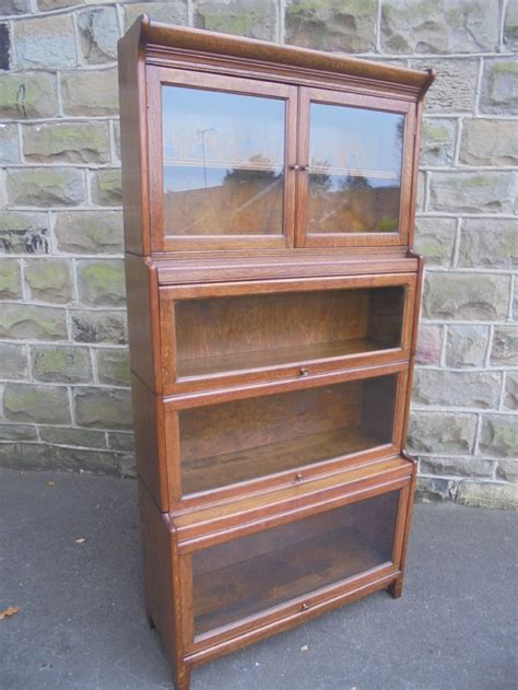 Gunn Bookcase by Antique Oak Stacking Solicitors Bookcase By Gunn