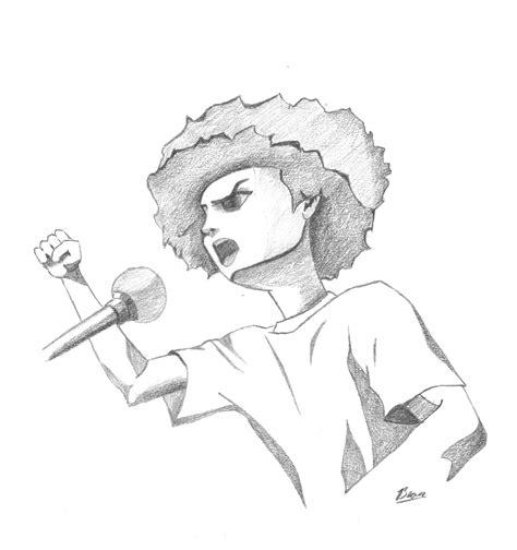 The Boondocks Riley Freeman Drawings Wwwimgkidcom