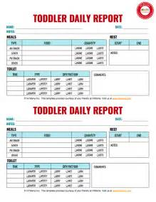 Day Sheet Template Toddler Daily Report 2 Per Page Infant Toddler Preschool Daily Report Templates