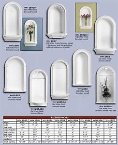 Polyurethane Wall Niches from Vintage Woodworks