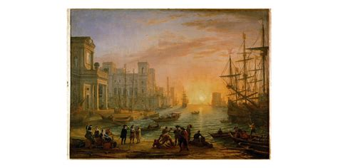 participatio claude lorrain port de mer au soleil couchant 1639