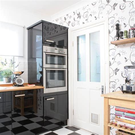 ideas for kitchen wall monochrome modern kitchen kitchen wallpaper ideas 10 of the best housetohome co uk